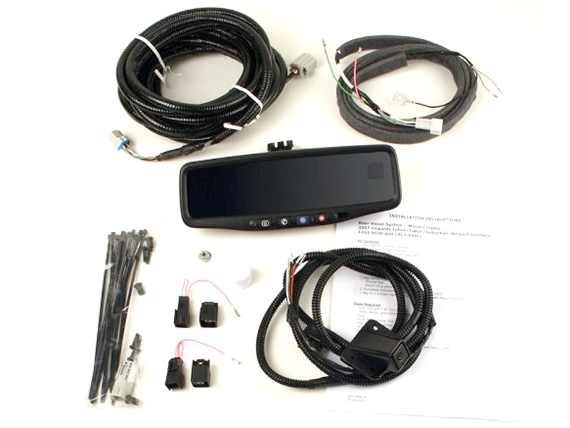 OEMBMMIRLCDSUVCAM0708 1 gm oem backup camera sys 2009 2013 suvs without onstar gm backup camera wiring harness at webbmarketing.co