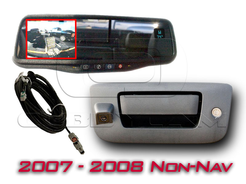 OEMBMMIRLCDTAILCAM0708 chevrolet silverado 1500 how to install rearview back up camera