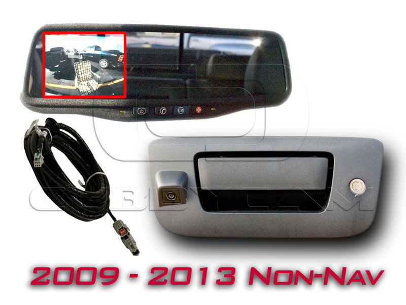 OEMBMMIRLCDTAILCAM0912 gm oem backup display mirror & camera for 2009 2013 trucks gm backup camera wiring harness at webbmarketing.co