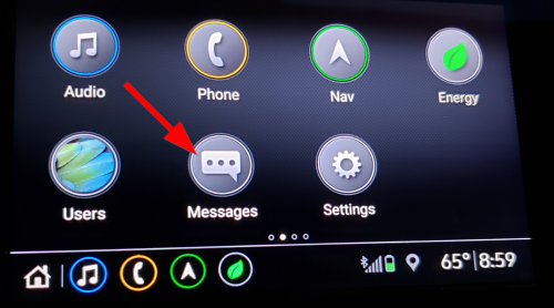 Messages app on GMs infotainment 3 system